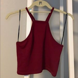 F21 Maroon Crop Top